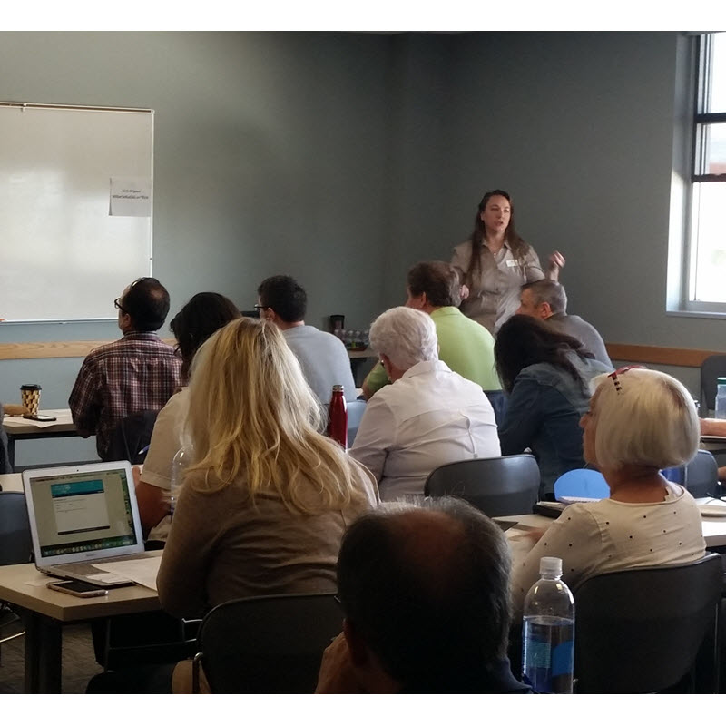 Paula Sageser at a training event