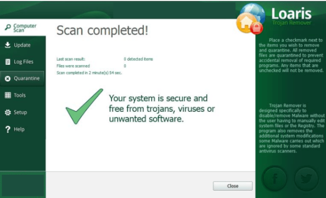 Loaris Trojan Remover windows