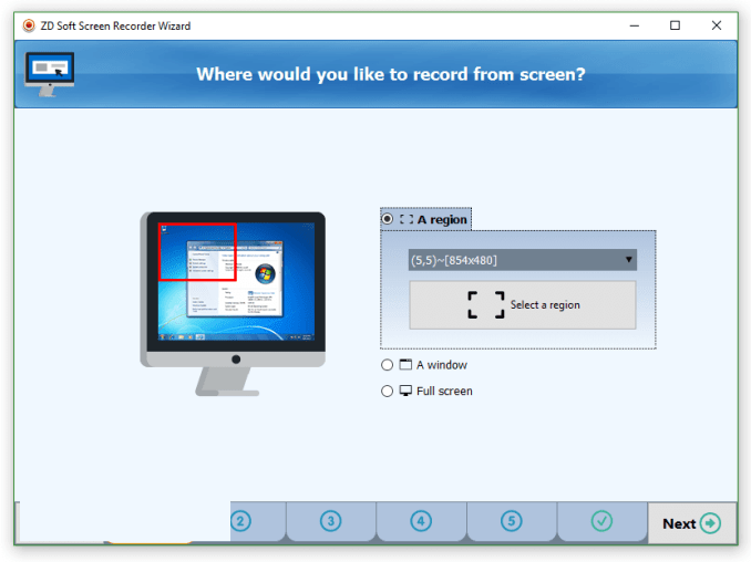 ZD Soft Screen Recorder windows
