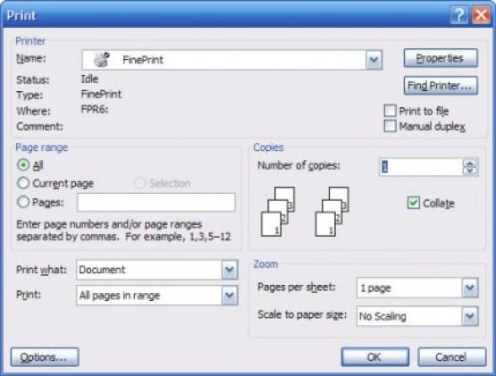 FinePrint windows