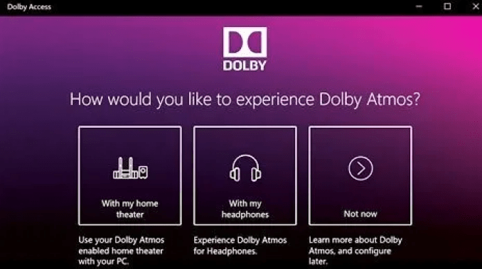 Dolby Access latest version