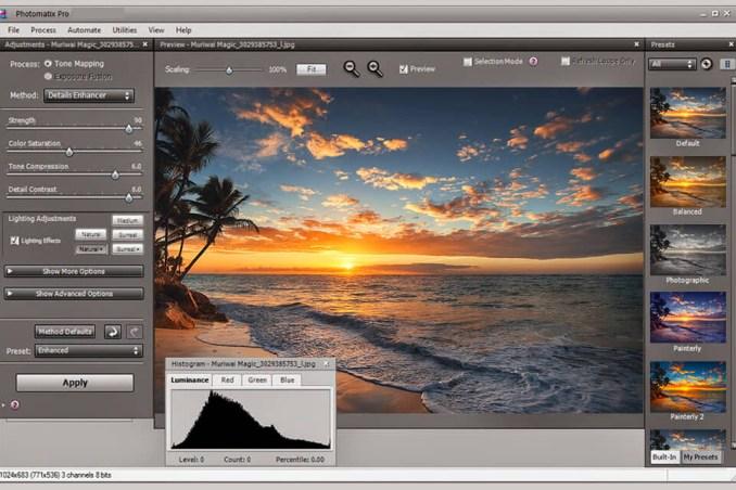 Photomatix Pro windows