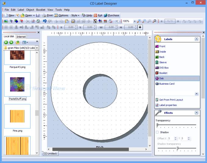 Dataland CD Label Designer latest version