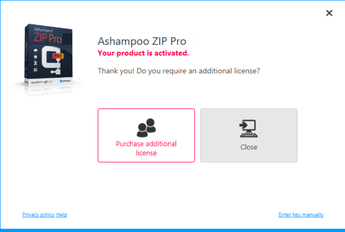 Ashampoo ZIP Pro windows
