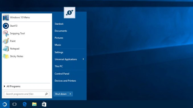 Stardock Start windows