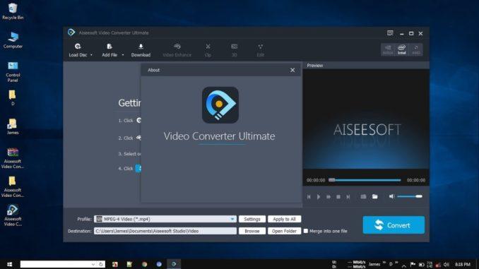 AiseeSoft Video Converter Ultimate latest version
