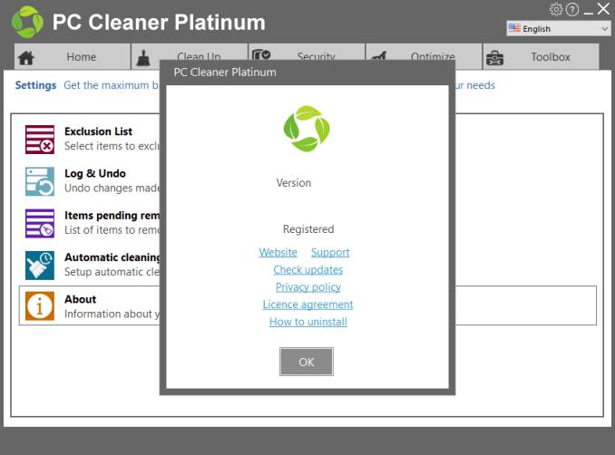 PC Cleaner Platinum windows