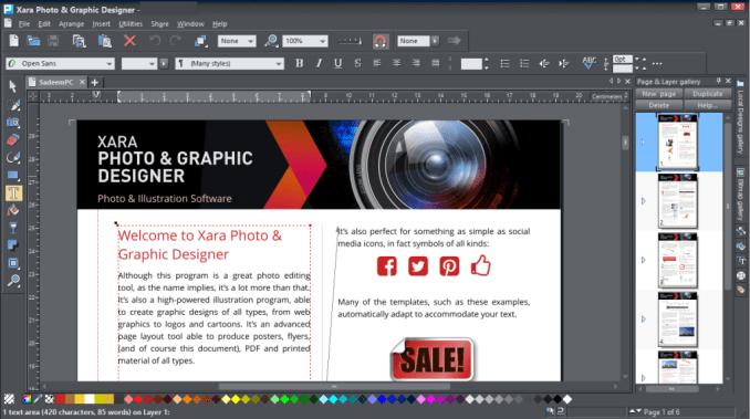 Xara Photo Graphic Designer windows