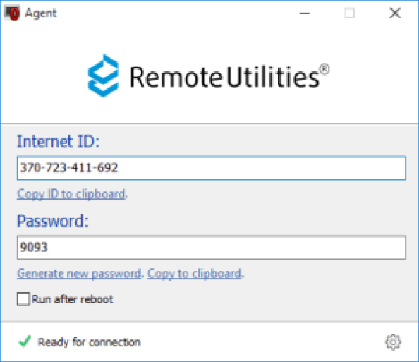 Remote Utilities Pro windows