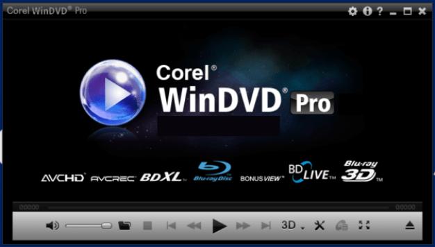 Corel WinDVD Pro windows