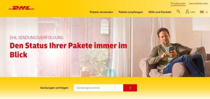 Zu sehen ist ein Screenshot der DHL-Webseite zur Sendungsverfolgung. Bald soll das DHL Live Tracking die Sendungsverfolgung deutlich verbessern. Bild: Screenshot