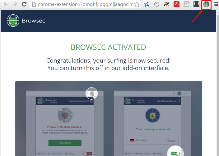 أضافة Browsec VPN للمتصفحات