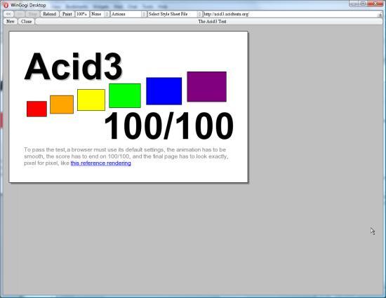 Opera passes acid3 test