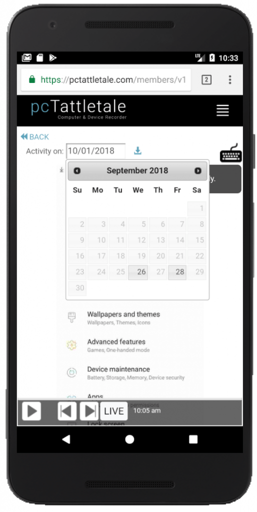 Android Calendar Selection