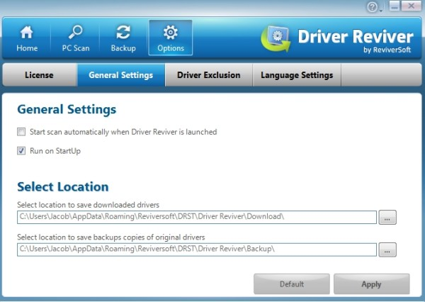 Driver Reviver Options
