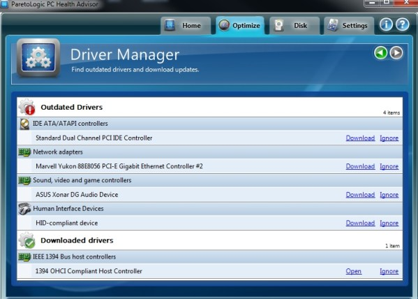 PC Health Advisor Driver Manager