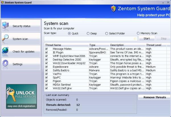 How to Remove Zentom System Guard