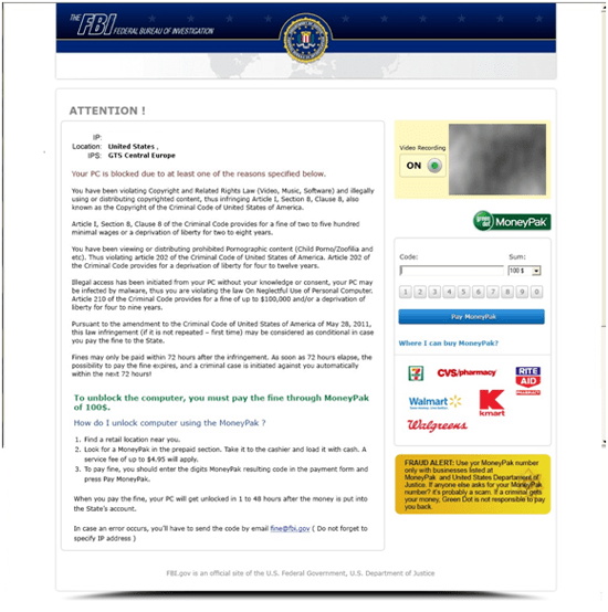 fbi moneypak virus