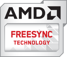 Logo for AMDs FreeSync technology