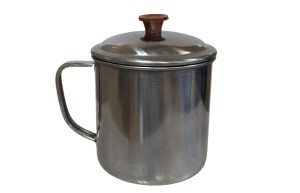aluminum backpacking pot and lid