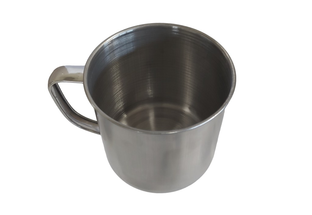 large aluminum camping cup