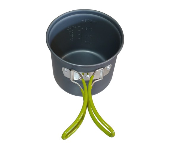 backpacking pot handles and water measurements