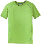 The Gauge Tee employs Polartec Delta fabric to be hyper-breathable during warm, strenuous activity.
