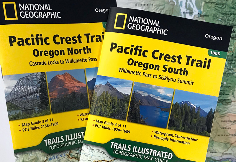 national geographic trails illustrated oregon pct maps