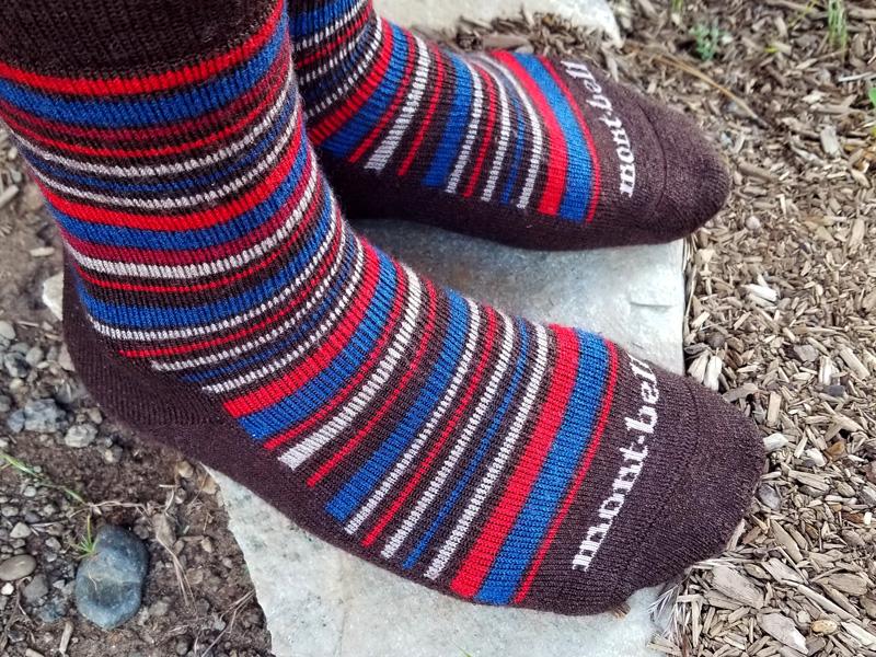 montbell merino trekking crew socks