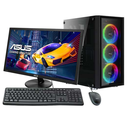 """ArmAdAPC EVC-DYN-R5340TG AMD Ryzen 5 3400G Quad Core 3.7Hz/Geforce GTX -1650/Unidad SSD 256 GBAsus TUF-B450M-plus/8 GB RAM DDR4 3200Mhz/21.5"""""""