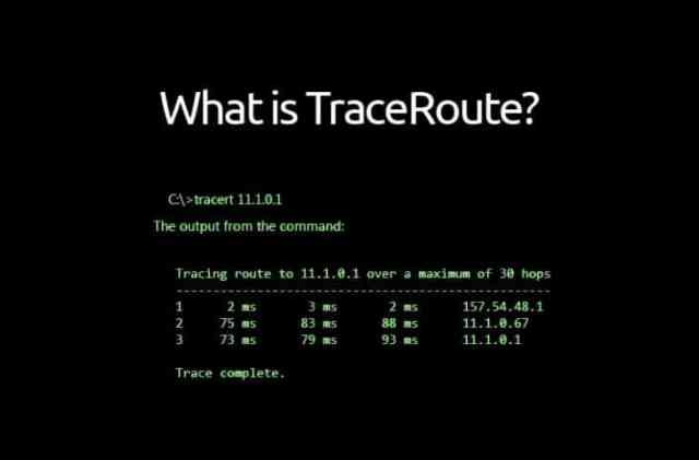 Traceroute meaning and usage