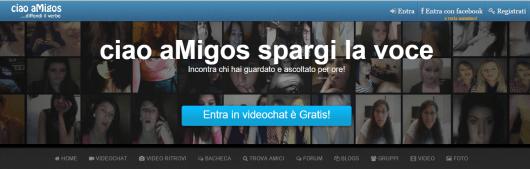 screen shot di ciao amigos