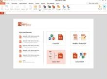 in questa immagine è presente la schermata di un programma che permette di modificare pdf.