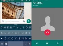 questa immagine mostra lo screenshot di una chiamata su whatsapp