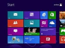 questa immagine mostra la schermata di avvio di windows 8