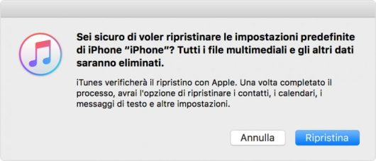 Resettare iPhone 7
