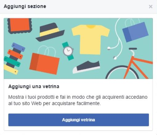 Crea una vetrina per vendere su Facebook