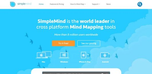SimpleMind app per mappe concettuali