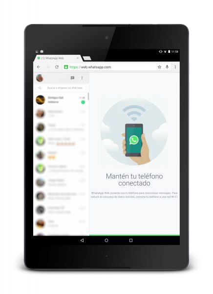 Usare WhatsApp Web su tablet