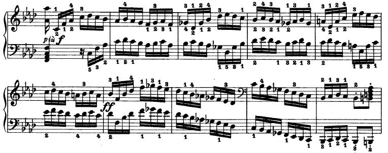 the stretto in the third movement