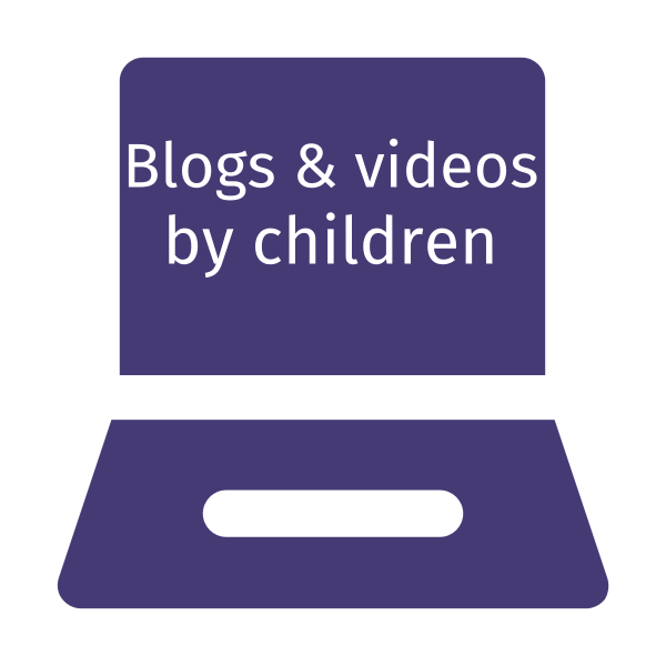 Blogs and videos by children