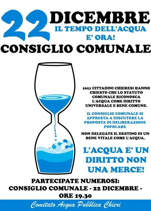 L'acqua è un diritto, non una merce!