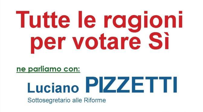 Referendum: venerdì 18 novembre incontro con Luciano Pizzetti a Soncino