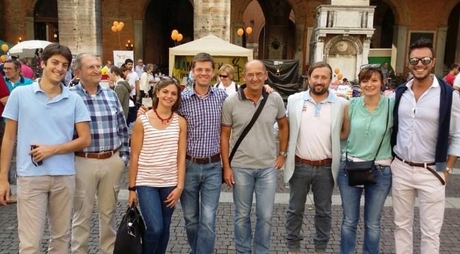 Carlo Vezzini, candidato alla presidenza della Provincia alla festa del volontariato