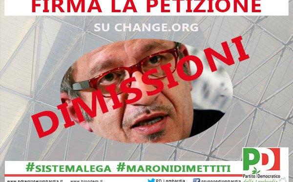 Dimissioni di Maroni. Firma la petizione!
