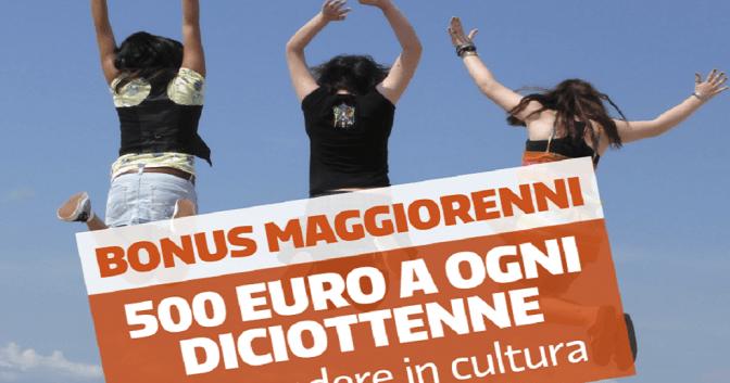 Bonus cultura ai diciottenni al via: attivato il sito www.18app.it