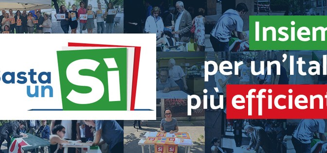 BASTA UN SI. Verso il referendum del 4 dicembre. I primi appuntamenti in provincia di Cremona.