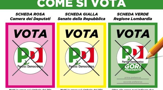 Elezioni 04 marzo 2018: ecco come si vota per Camera, Senato e Regione Lombardia