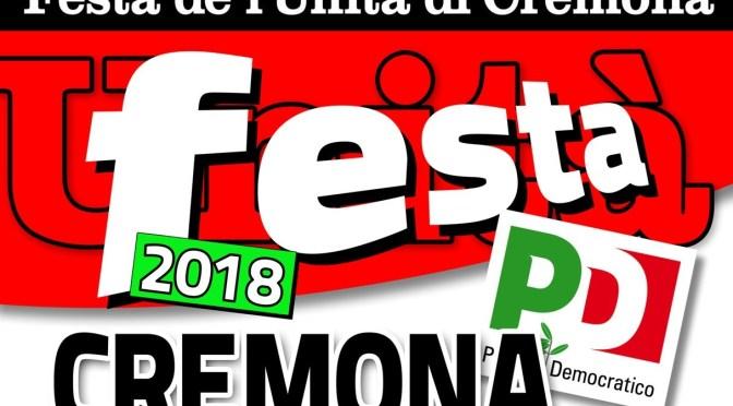 Il calendario dei dibattiti della Festa de l'Unità di Cremona
