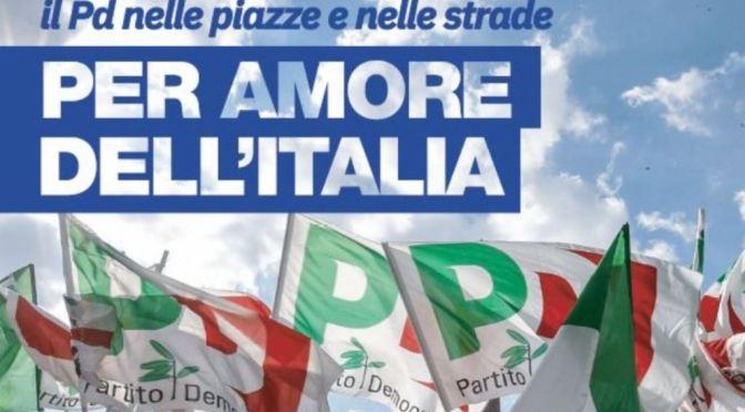 Per amore dell'Italia: dal 3 al 6 ottobre mobilitazione nazionale del Partito Democratico